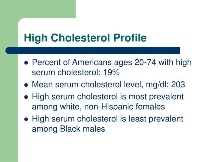 High cholesterol profile