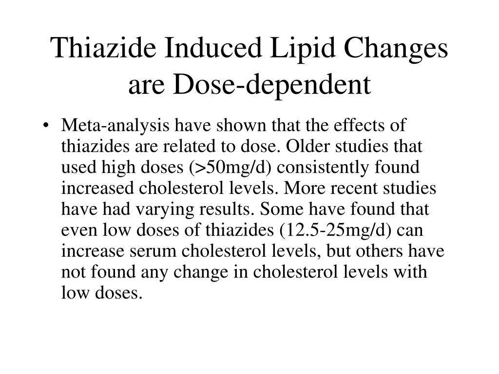 Thiazide Induced Lipid Changes are Dose-dependent