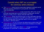 carotid artery imt as a surrogate for coronary artery disease