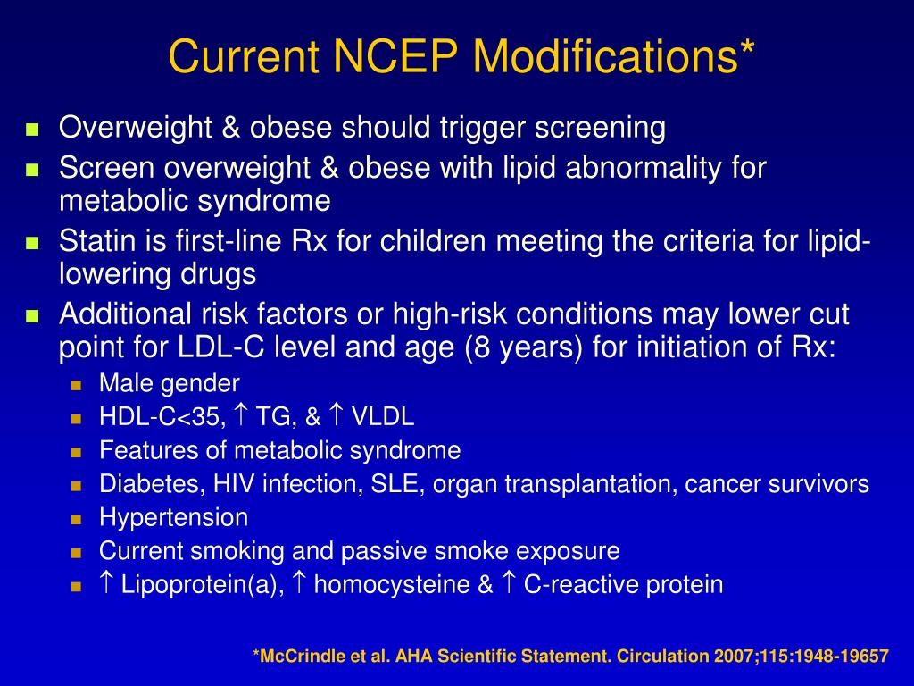 Current NCEP Modifications*