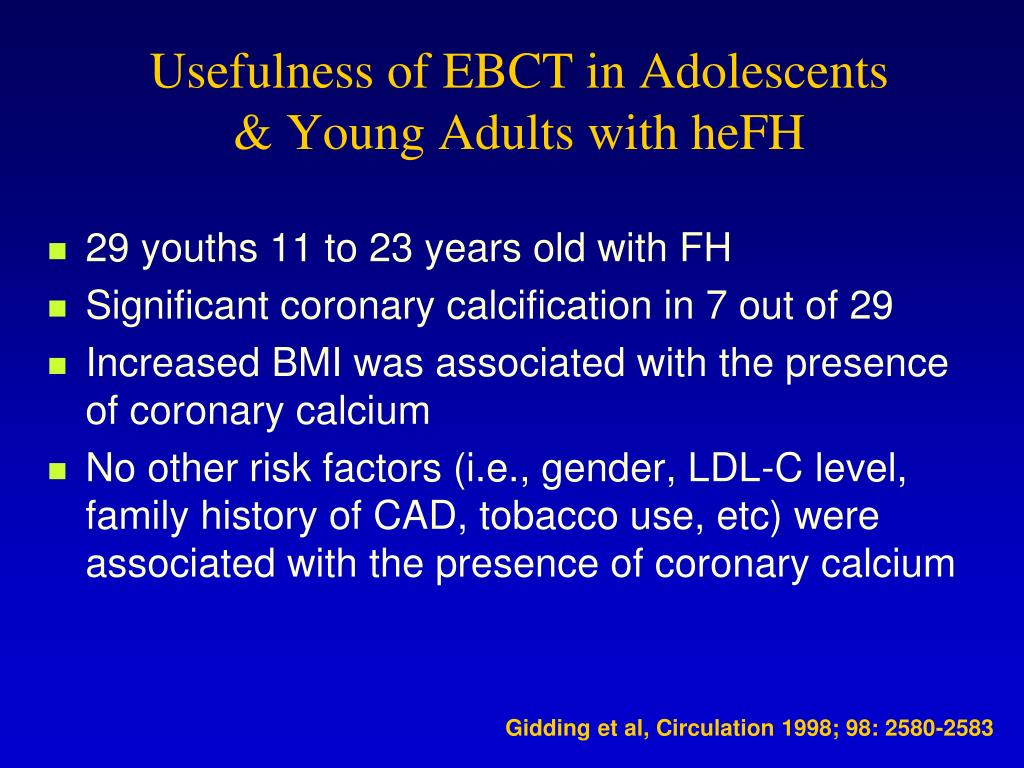 Usefulness of EBCT in Adolescents