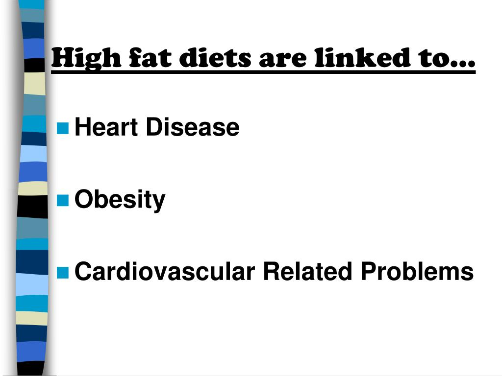 High fat diets are linked to…