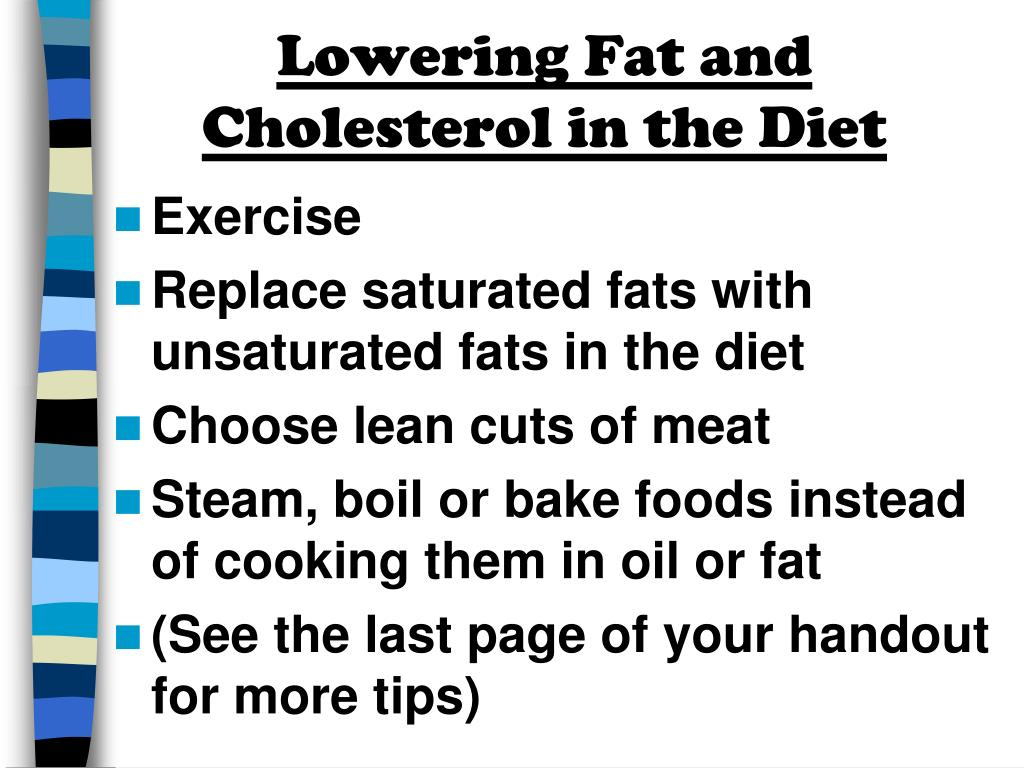 Lowering Fat and Cholesterol in the Diet