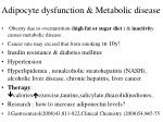 adipocyte dysfunction metabolic disease4