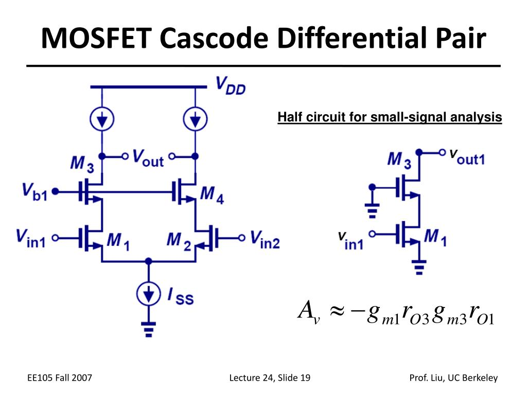 MOSFET Cascode Differential Pair