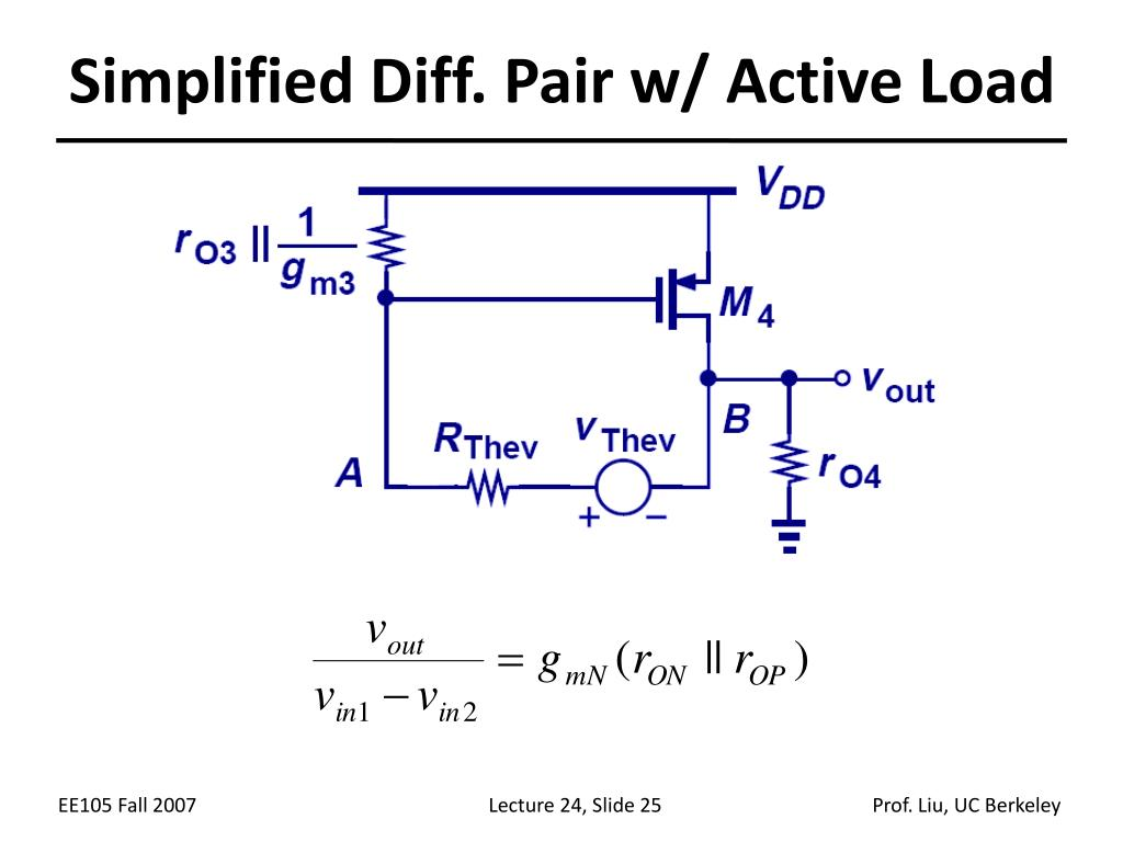 Simplified Diff. Pair w/ Active Load
