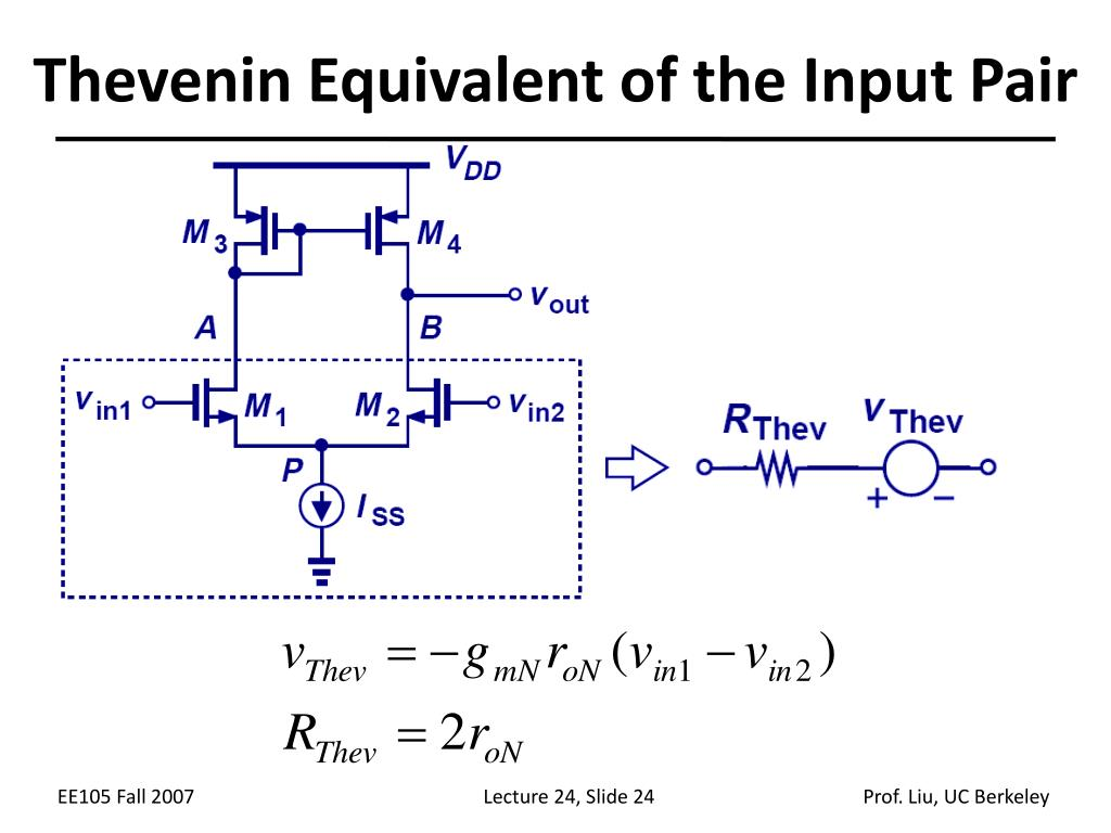 Thevenin Equivalent of the Input Pair
