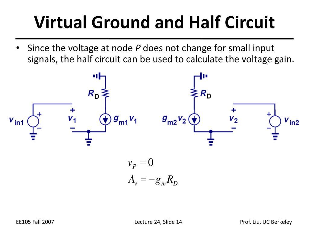 Virtual Ground and Half Circuit