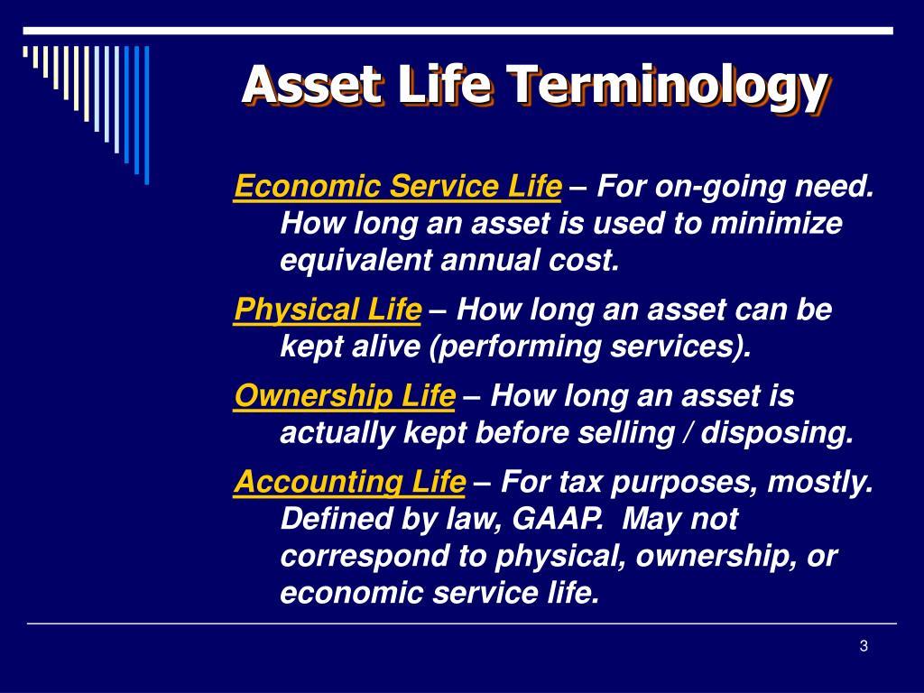 Asset Life Terminology