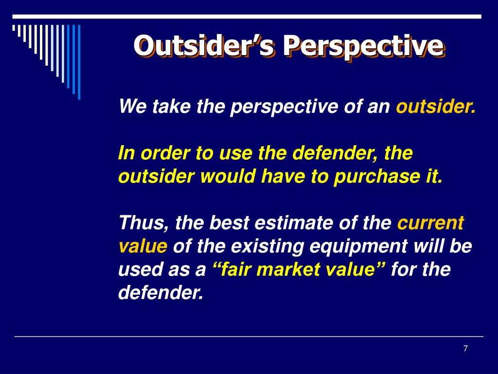 Outsider's Perspective