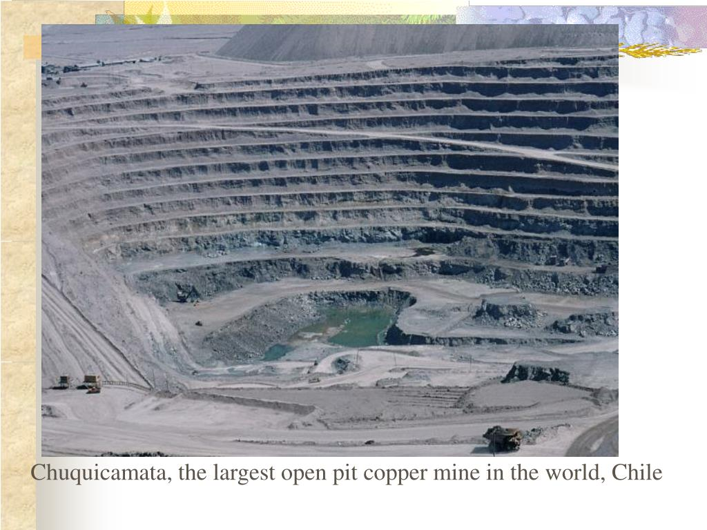 Chuquicamata, the largest open pit copper mine in the world, Chile