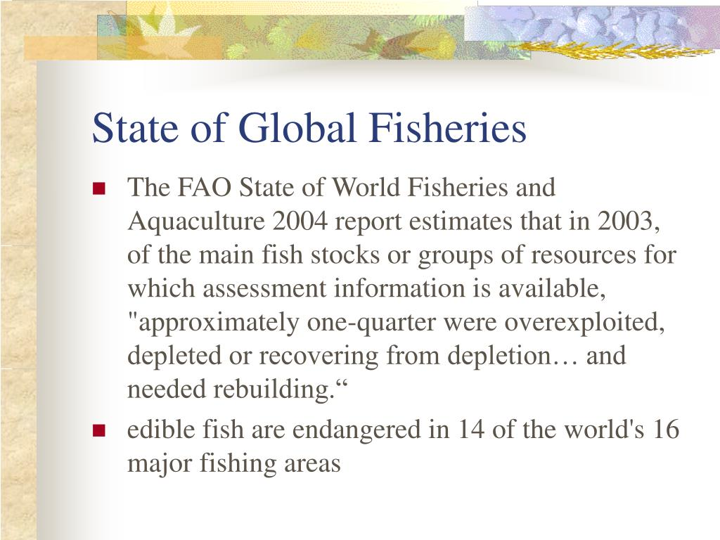 State of Global Fisheries