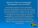 national vision for sustainable development from the nfsd