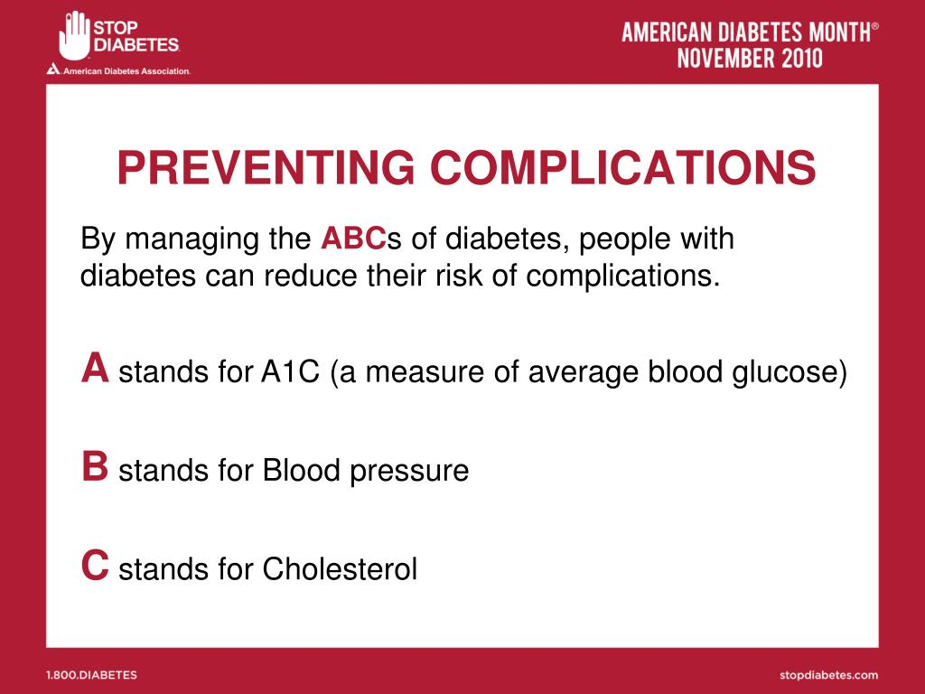 PREVENTING COMPLICATIONS