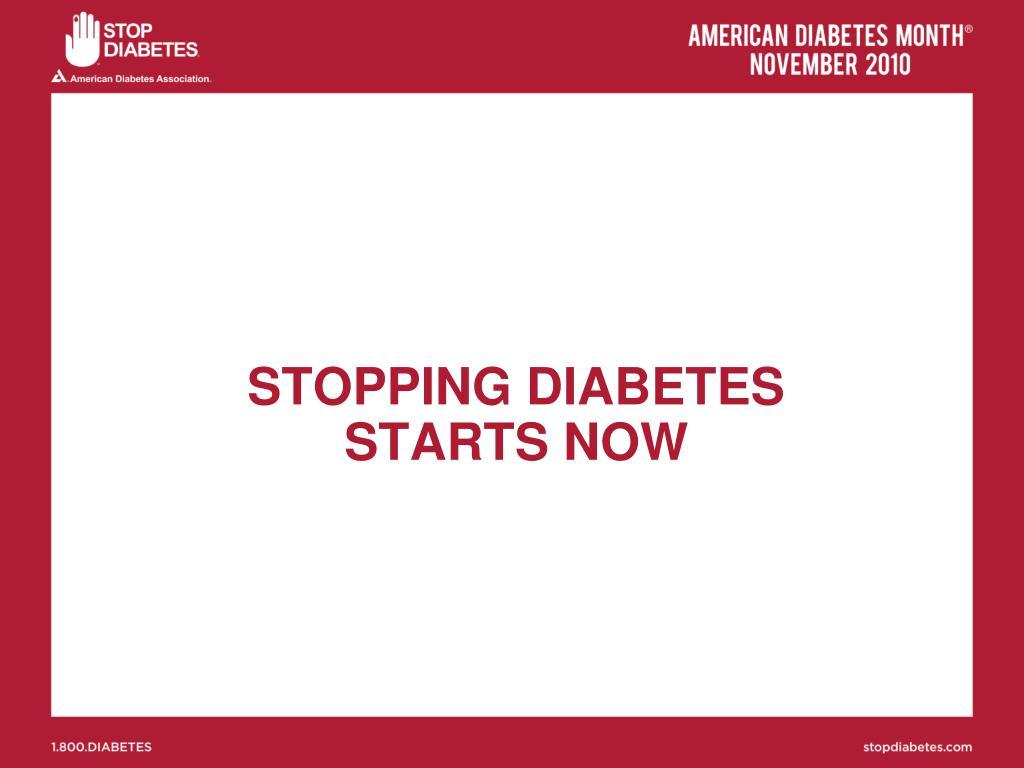 STOPPING DIABETES