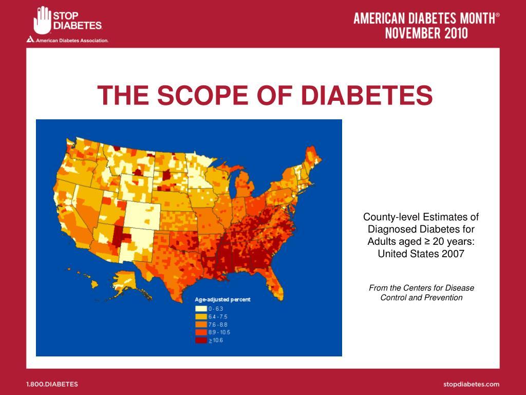 THE SCOPE OF DIABETES