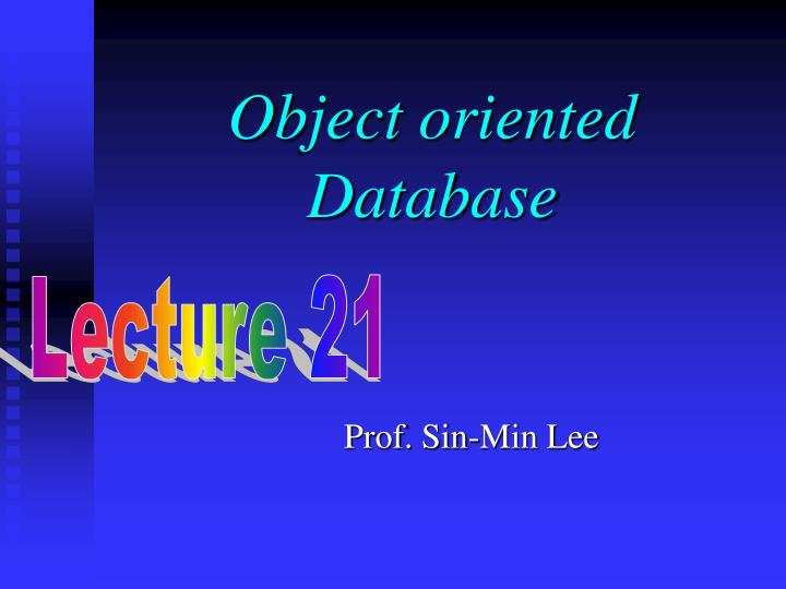 object oriented database n.