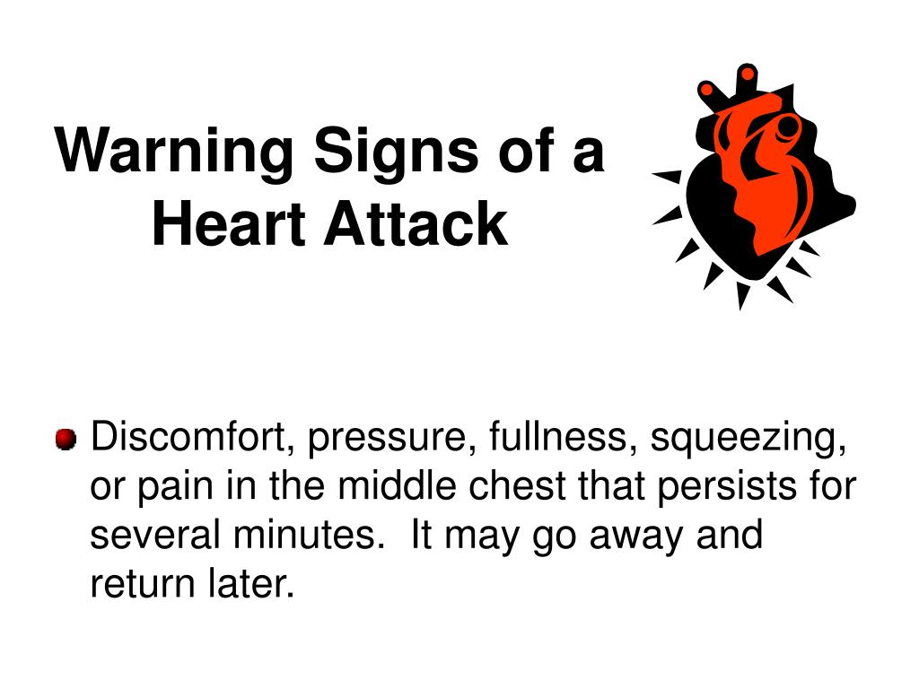 Warning Signs of a Heart Attack
