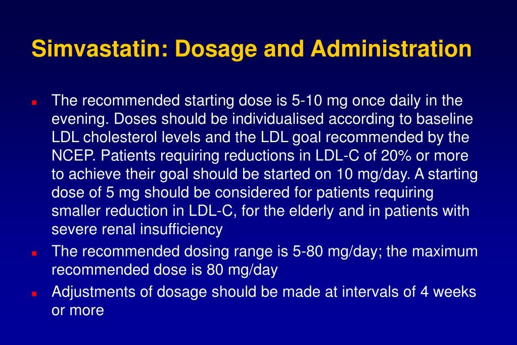 Simvastatin: Dosage and Administration