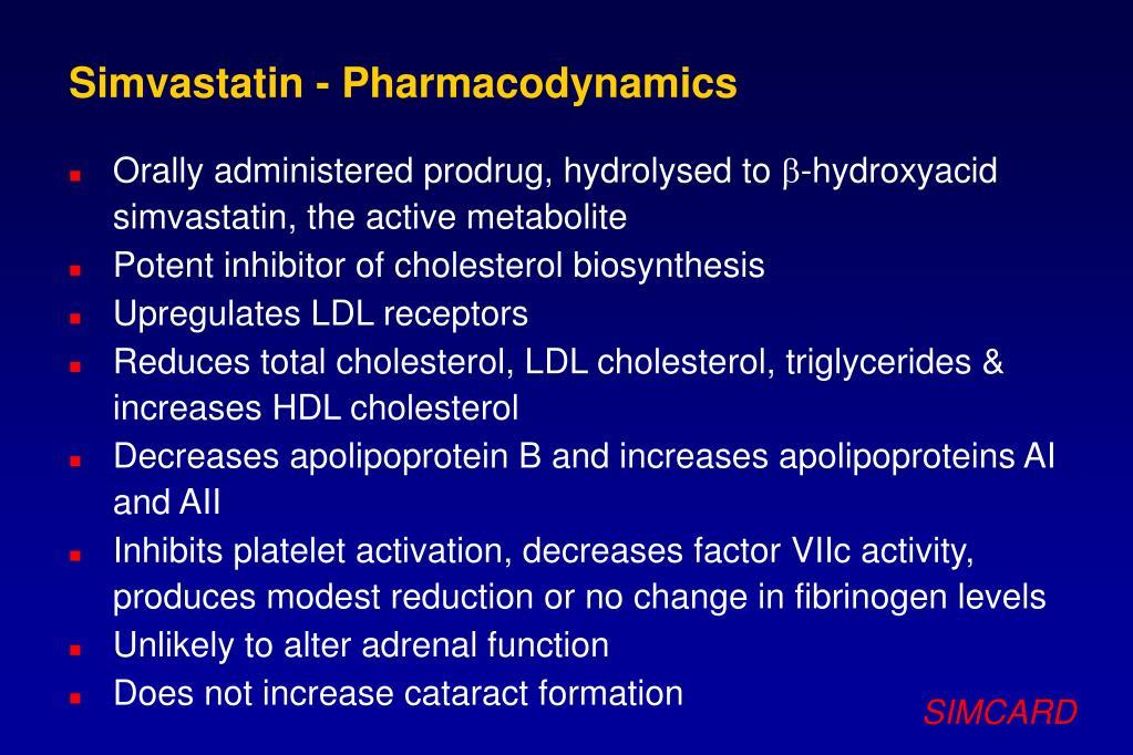 Simvastatin - Pharmacodynamics
