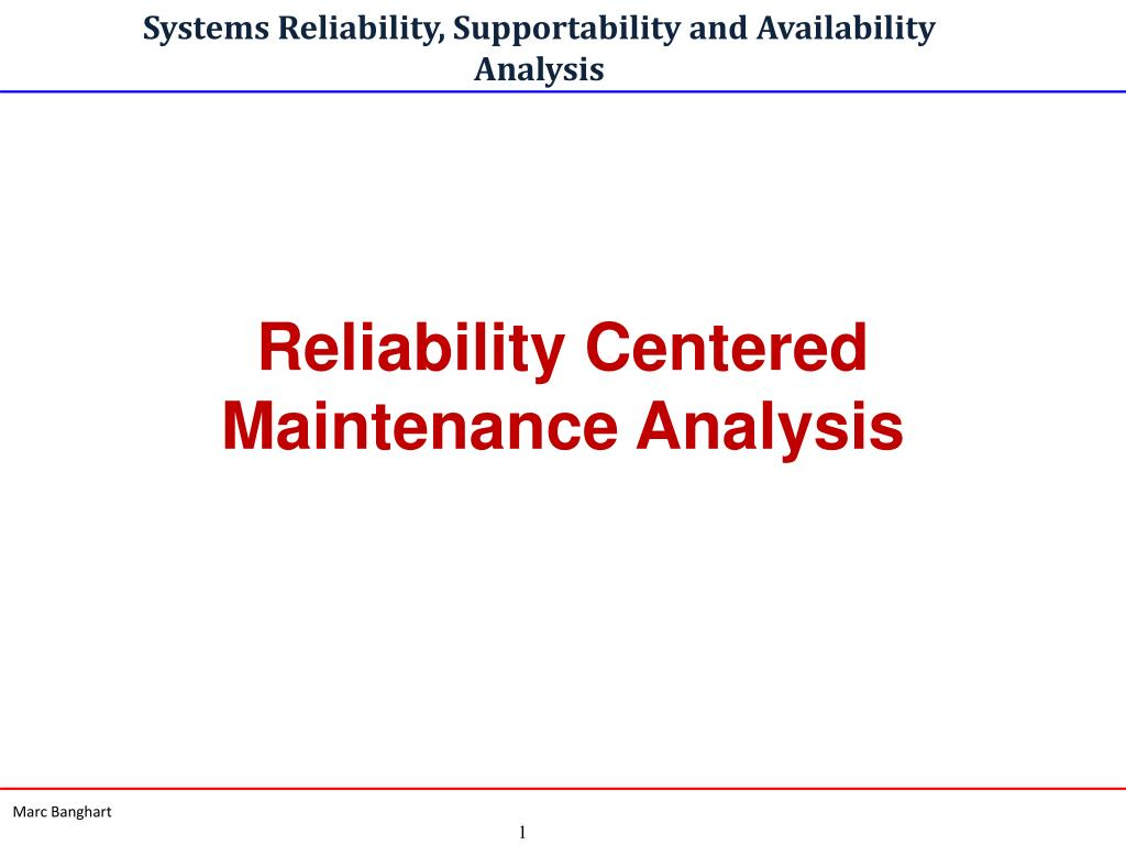 systems reliability supportability and availability analysis l.