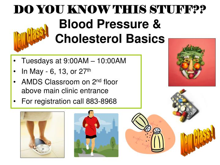 Do you know this stuff blood pressure cholesterol basics