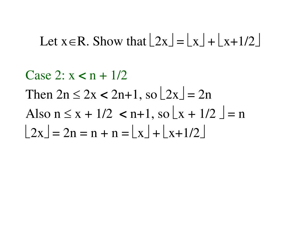 Let x