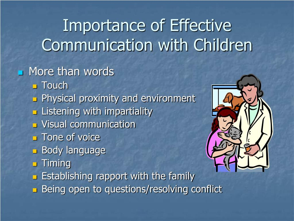 importance of effective communication in nursery environment Effective communication in the workplace  it is characterized by an environment in which individuals  the importance of effective communication for.