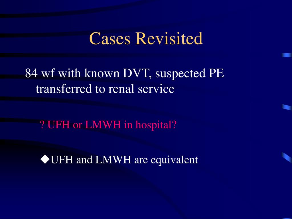 Cases Revisited