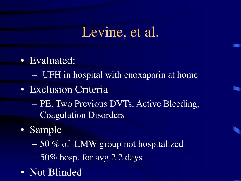 Levine, et al.
