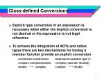 class defined conversions