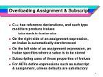 overloading assignment subscript