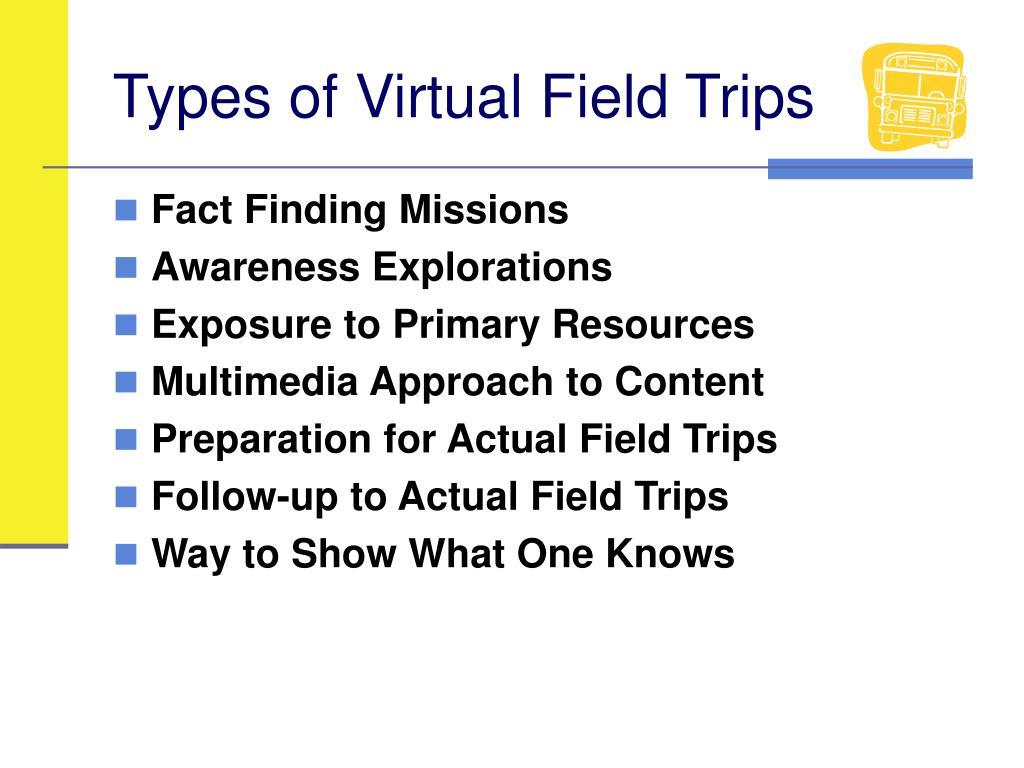 Types of Virtual Field Trips