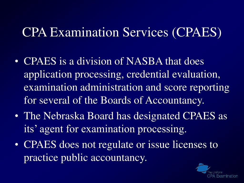 CPA Examination Services (CPAES)