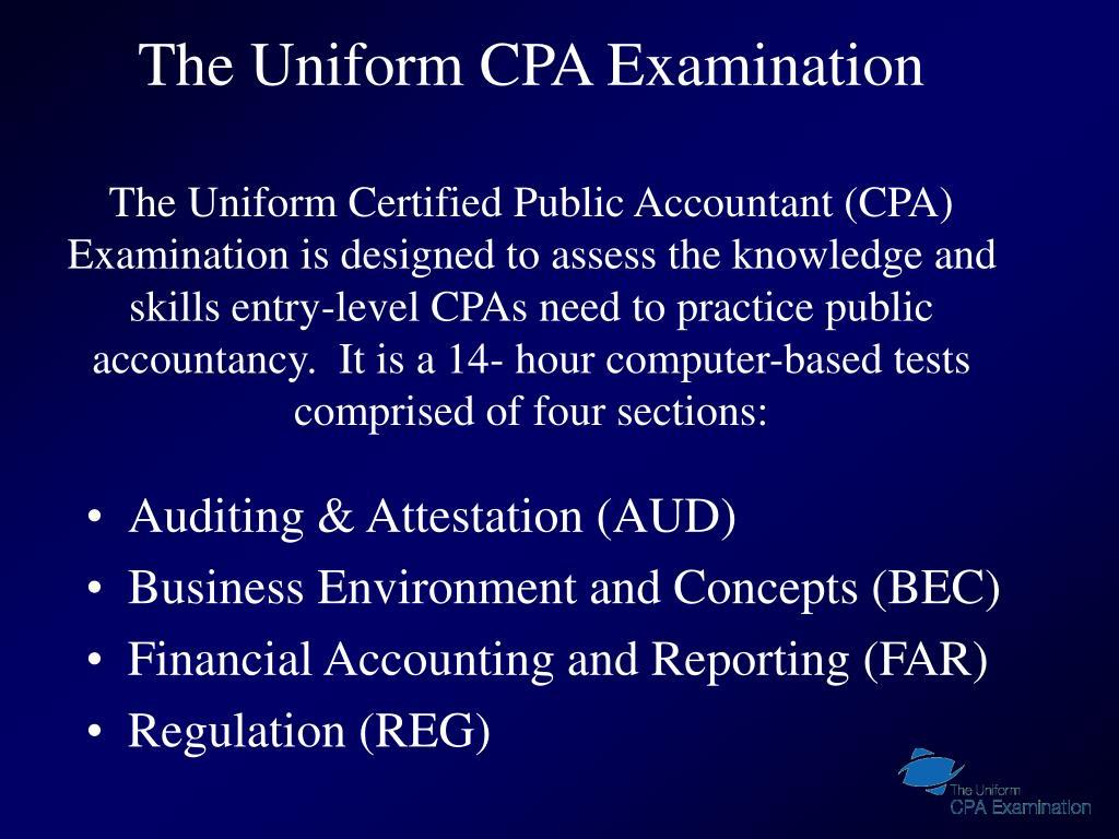 The Uniform CPA Examination