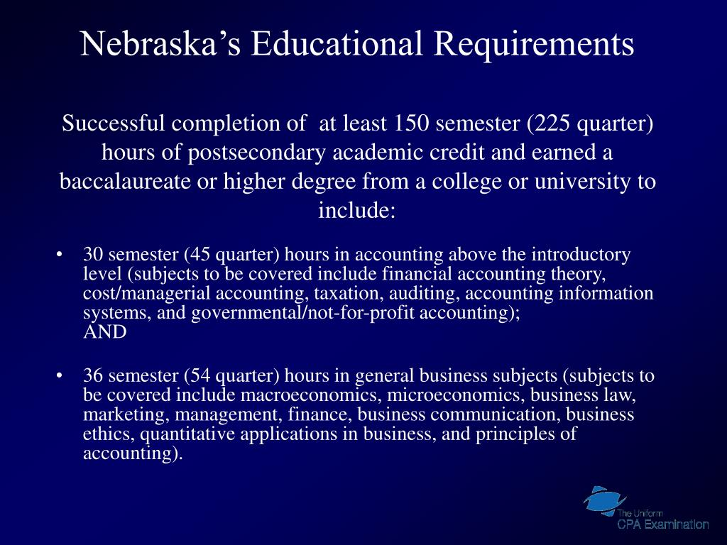 Nebraska's Educational Requirements
