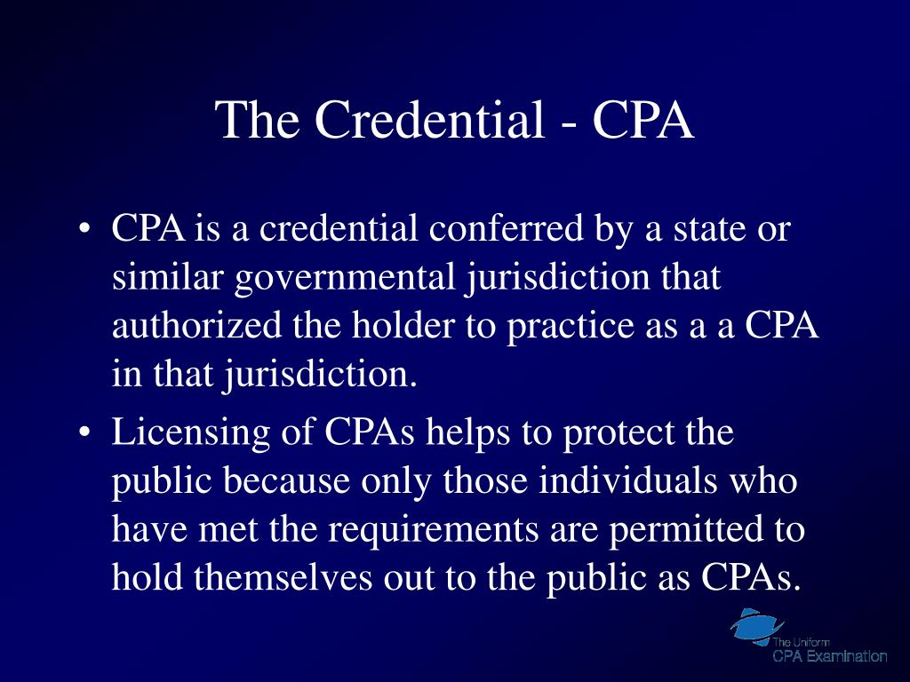 The Credential - CPA