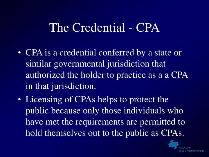 The credential cpa