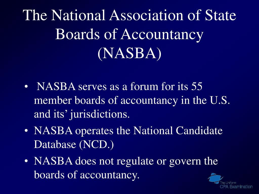The National Association of State Boards of Accountancy (NASBA)