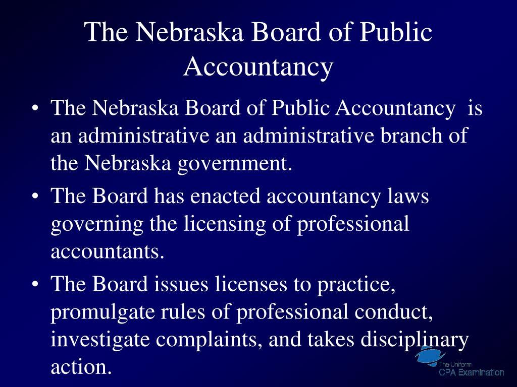 The Nebraska Board of Public Accountancy