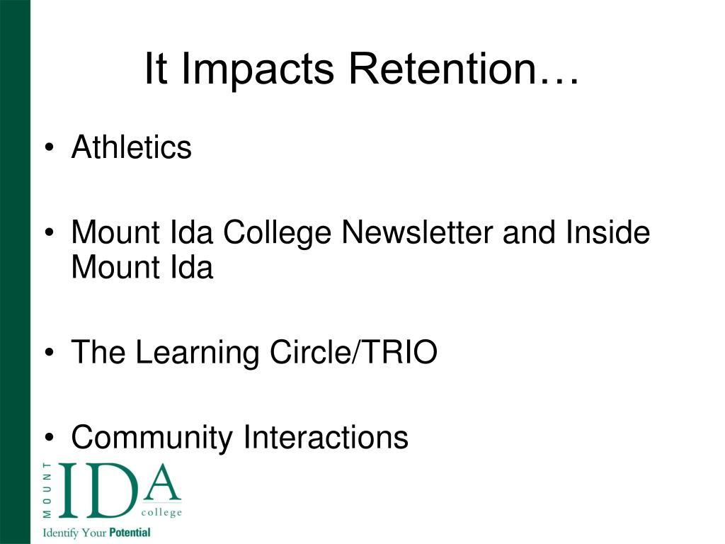 It Impacts Retention…