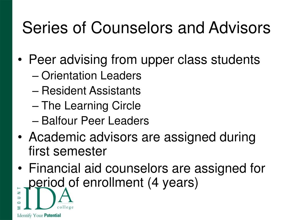 Series of Counselors and Advisors