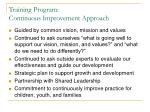 training program continuous improvement approach