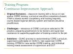 training program continuous improvement approach11