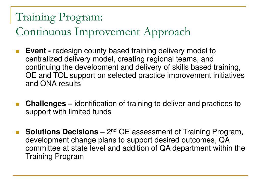 Training Program:
