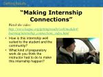 making internship connections