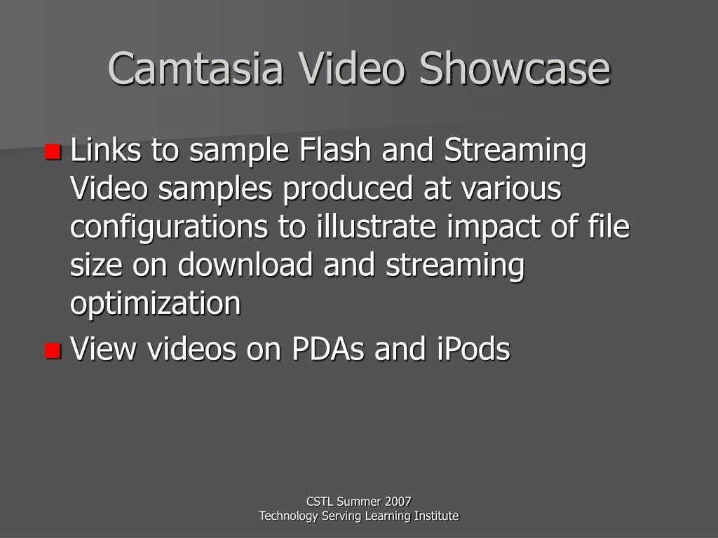 Camtasia Video Showcase