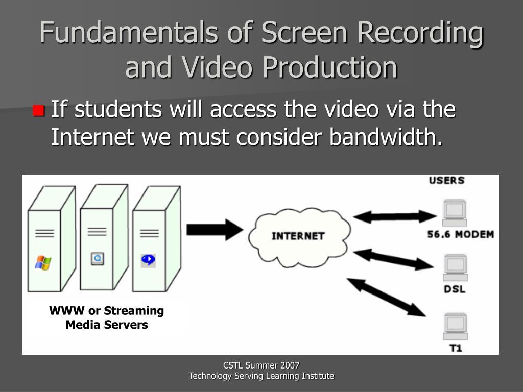 WWW or Streaming Media Servers