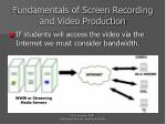 fundamentals of screen recording and video production16