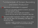 fundamentals of screen recording and video production25